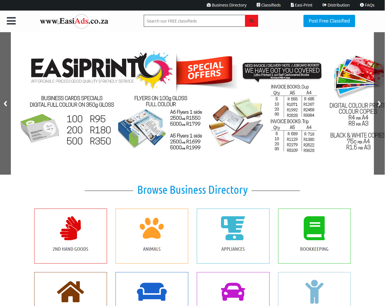 Easi Ads - Dynamic Website